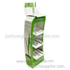 Depilatory Cream Custom Corrugated Free Standing Cardboard Floor Display Racks