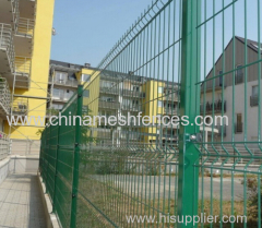 PVC coated curved fence panel PVC coated curved fencing