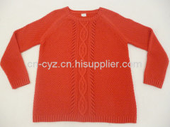 Women's Crew Neck Double Seed Stitch Sweaters
