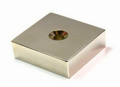 ndfeb bulk block strong magnet with countersunk
