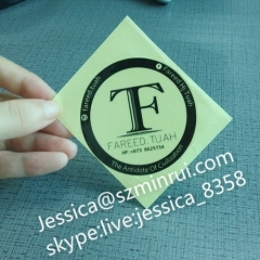 Good Quality Custom Round Water Proof Strong Adhesive Transparent Seal Stickers With Customized Logo Printed