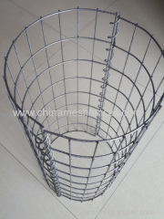 Heavy Zinc-coating Round Type Welded Mesh Gabion Baskets