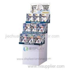 Free Standing Supermarket CD DVD Stock Cardboard Display