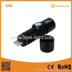 C92 Build in Battery USB charger rechargeable led torch flashlight