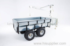 Chine Best 360 degree revolved boom 1.5T load capacity log trailer with crane