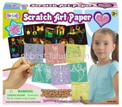 Magic scratch art set