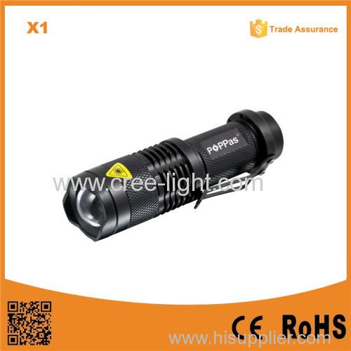 Classic Design For Promotion Gift X1 Black/Silver AA Battery 3Watt XP-E R2 LED Mini Flashlight