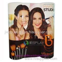 Special Design Paper Totem Displays Standing For Cosmetics