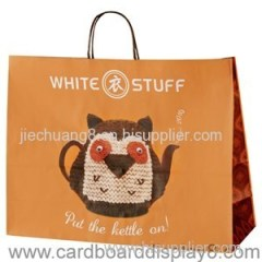 Large Twisted Handle Kraft Paper Carrier Bags for Clothing