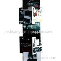 Earphone Promotional Cardboard Pallet Display Stand with Advertising Printings