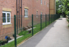 Security Powder Coated Curved Welded Mesh Fence