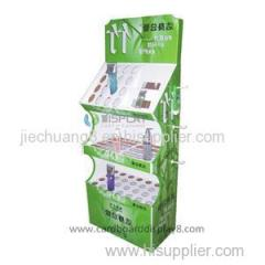 Customized Compartments Cosmetic Cardboard Display With Full Colors Printing