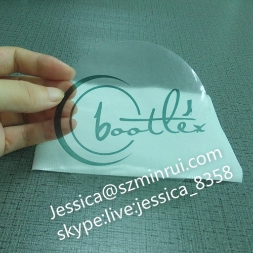 Custom transparent label round logo printing outdoor clear vinyl stickers with matte film