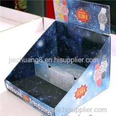 2 Tiers Corrugated Countertop Displays for Watches Promotion
