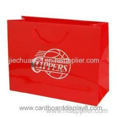 Luxury Eurotote Paper Shopping Bags with Silver Logo Foil Stamp