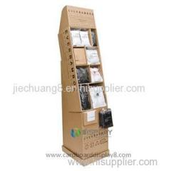 2015 New Style Paper Display Shelves Cardboard Display Stand For Clothes Retail Supplies