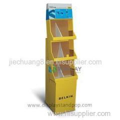 Custom Print Floor Standing Cardboard Display For Food
