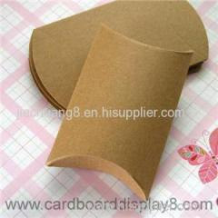 Custom Printed Kraft Paper Pillow Box for Gifts