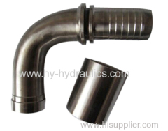 Stainless steel hydraulic hose fittings 90 deg Elbow