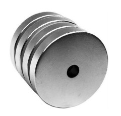 N35 strong permanent disc neodymium magnet with scrow hole
