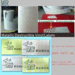 Unique Uncopied Water Wave Destructible Vinyl Wave Pattern Fragilabel Label Material