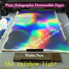 3D Hologram Patterns Destructible Paper Custom Tamper Evident Labels