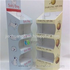 Advertisement Printed Corrugated Cardboard Display For Gift Retails
