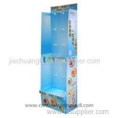 New Design Customized Cardboard Hook Display Stands For Food