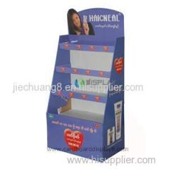 Custom Promotional Corrugated Cardboard Advertising Display Stands For Cosmetics