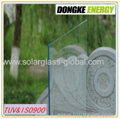 4.0mm low iron solar glass with good quality