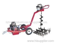 Towable 9hp earth auger