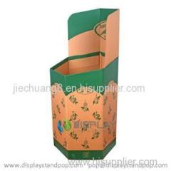 Corrugated Cardboard Hexagonal Dump Display Bins with Custom Printing