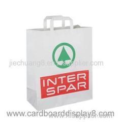 High Quality Custom Made White Kraft Paper Bag