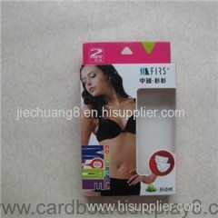 Underwear Packaging Paper Boxes with PVC Window and Euro Slot
