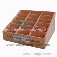 2015 Eco-friendly New Design Customized Cardboard Counter Book Display