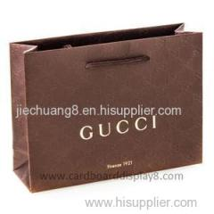 Recycled Embossed Hot Foil Brown Paper Bag With Handles