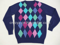 2015 Men's Fashionable Cotton Casual Checked Pattern Sweaters