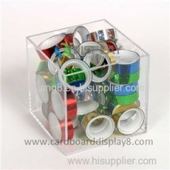 High Quality Square Crystal Acrylic Display Case For POP Displays