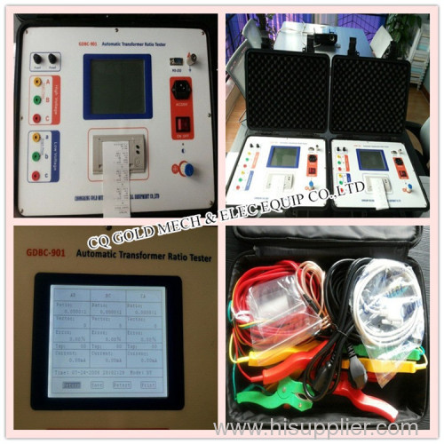 Single phase and three phase transformer ttr tester turn ratio meter