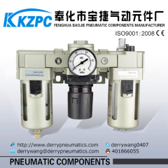 pneumatic air filter regulator combination filter + regulator + lubricator