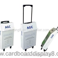 2015 New Design Promotional Advertising Corrugated Good Quality Carton Trolley Box