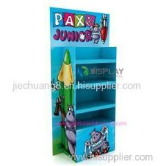 Retail Supermarket Paper Pallet Cardboard Pen Display For Stationery Store