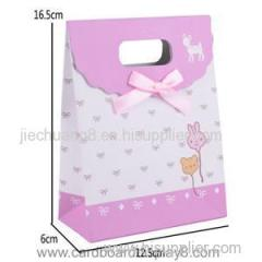 Customized Packaging Gift Paper Bag With Die-cut Handle