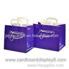 Custom Printed Color Logo Cute Paper Bag With Flat Hanldes
