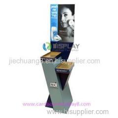 Custom Compartment Floor Cardboard POP Display Rack