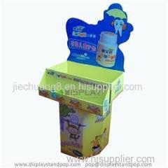 Cardboard Corrugated POP Dump Bin Displays For Food