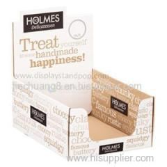 POP Cardboard Counter Display Boxes For Supermarket