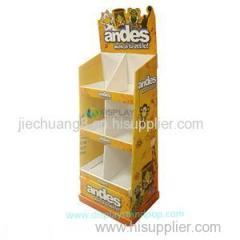 Fashion Exhibition Cardboard Toy Display Shelf For Supermarket