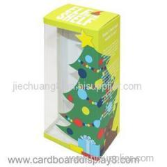 Custom Designed Paper Gift Box with PVC Clear Window