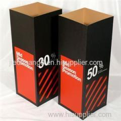 Corrugated Cardboard Display Cubes with Custom Printings for Advertising